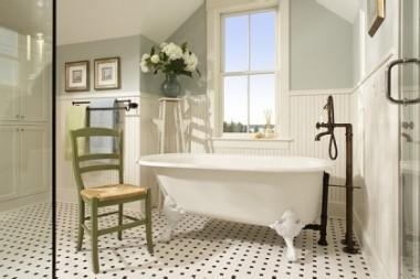 Oprema za kupatilo kao retro spa-oazu