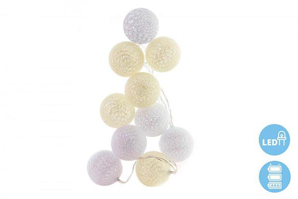 Belo bež lampioni 10 cotton 6x151