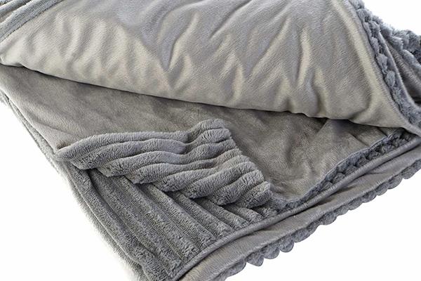 ćebe basic grey 150x200x2 260 gsm