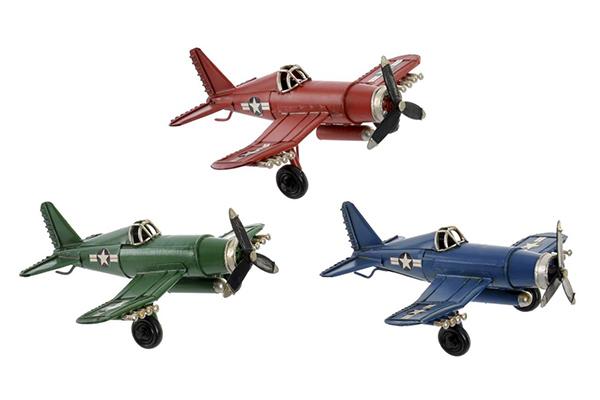 Dekoracija avion / metal 16x15,5x6,5 3 modela