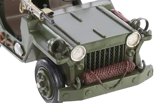 Dekoracija jeep dark green 25x14x14