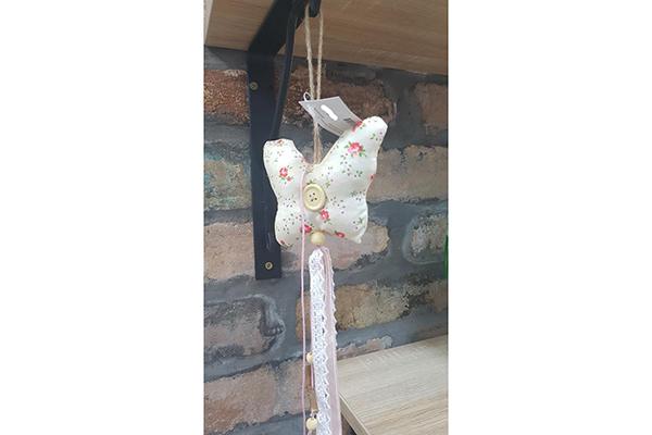 Dekoracija leptir dugme 70 cm