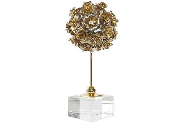 Dekoracija roses golden 12,5x12,5x29