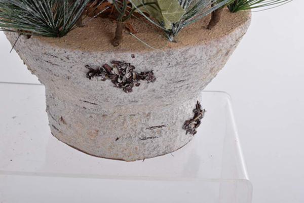 Dekorativna korpa natural 30x33