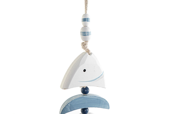 Dekorativno zvono fishes blue 9x2,5x72