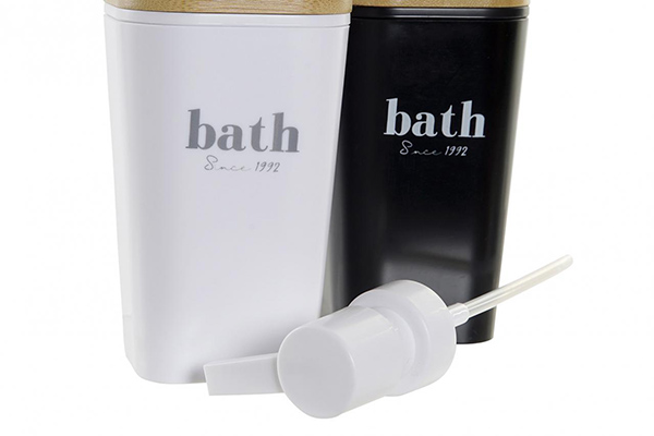 Dispenzer za sapun crno beli 7,5x7,5x17,5 2 modela