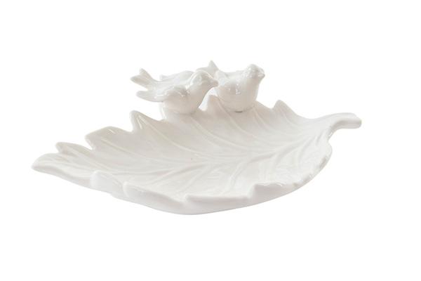 Držač nakita bele ptice 22x16x6