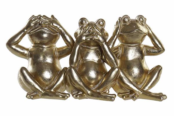 Figura zlatna žaba 30x10,7x16