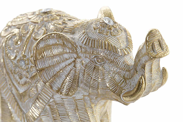 Figura elephant aged golden 17x7,5x15
