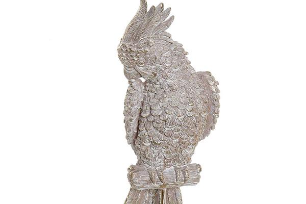Figura kakadu golden aged 12x10x39