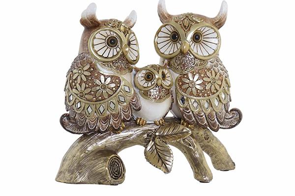 Figura owl family 20x8x18