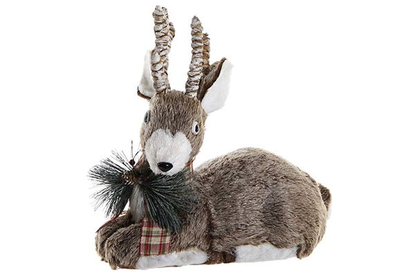 Figura reindeer grey 38x21x36,5