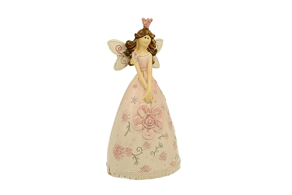 Figura roze vila 13 cm kutijica za nakit