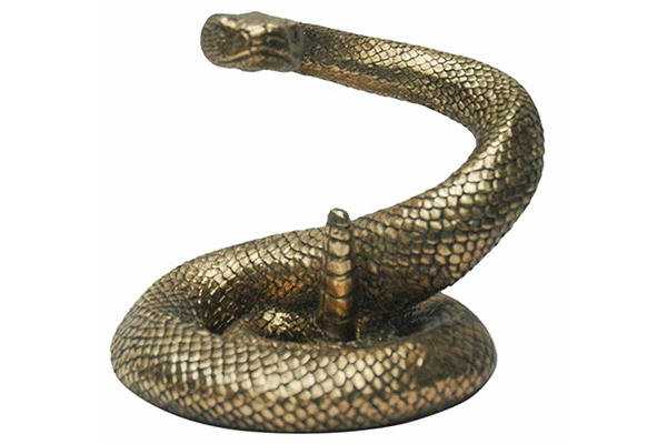 Figura snake golden 23x19x19