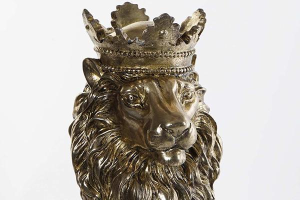 Figura zlatni lav 15x18x34