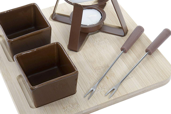 Fondu set brown / 6 20x20x15
