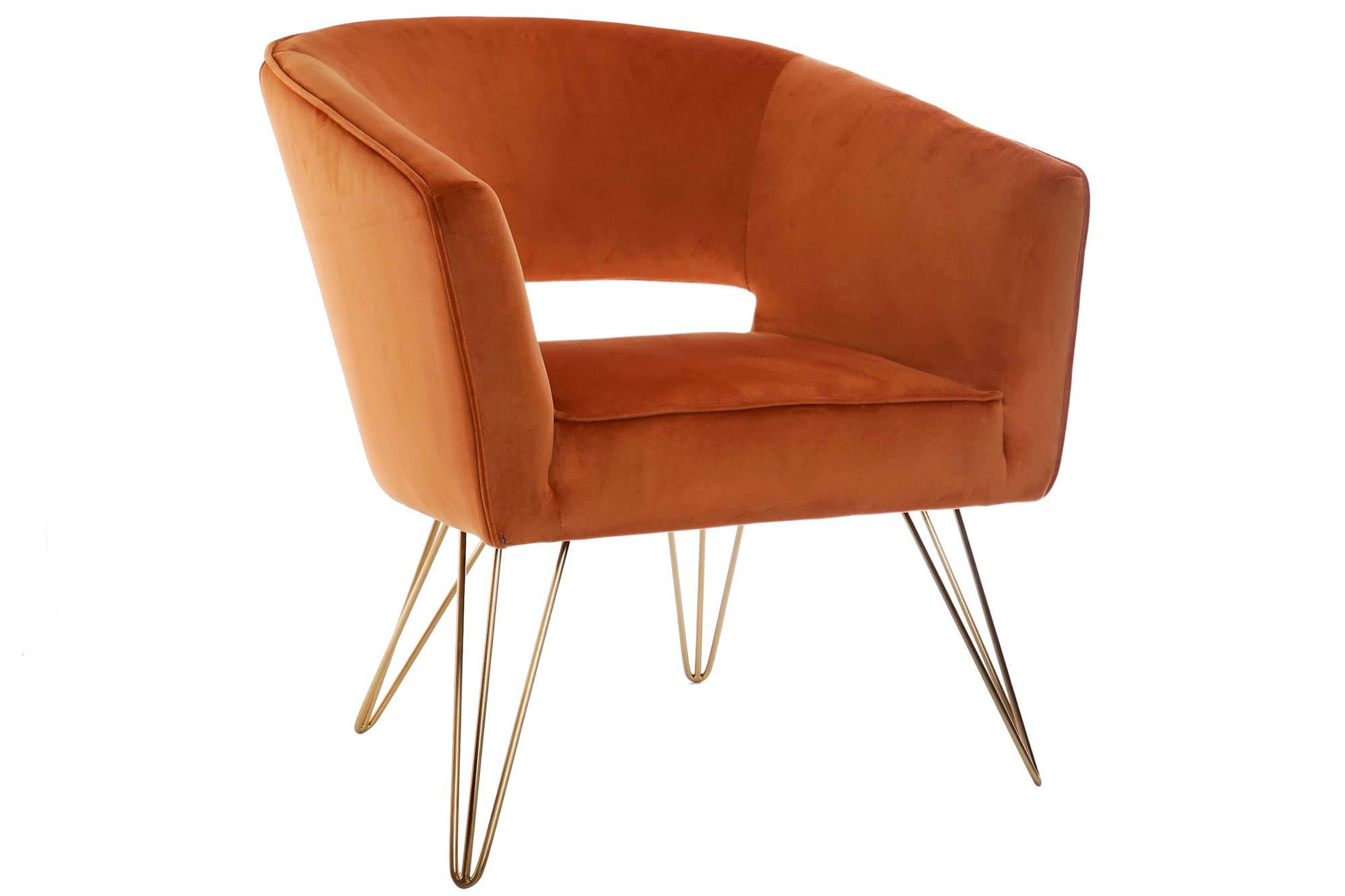 Fotelja orange 65x70x74