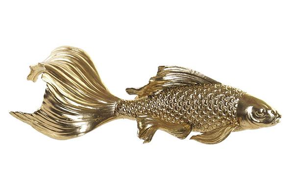 Figura golden fish / rezin 40x20x11