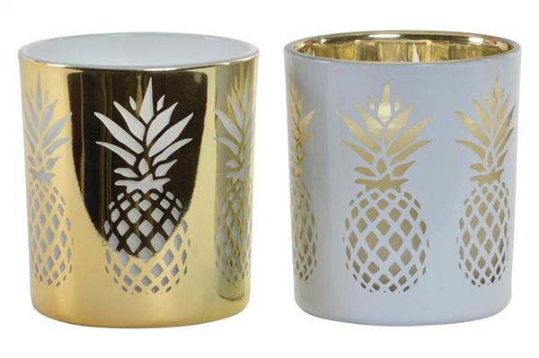 Golden sveća ananas  6x8 135 gr 2 modela