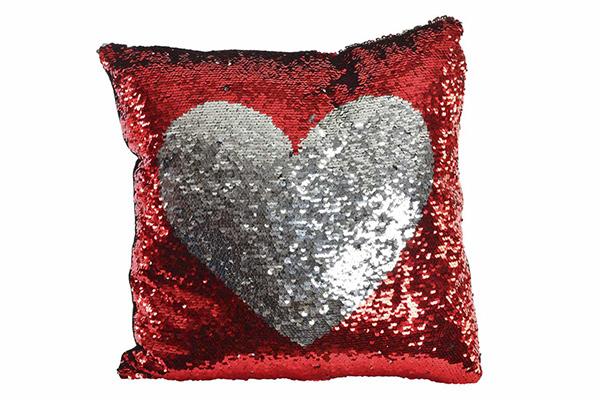 Jastuk srce sa šljokicama
