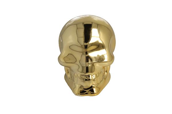 Kasica gold skull 10 cm