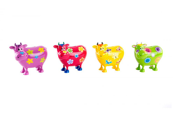 Kasica kravica u boji / rezin 15x15 4 boje