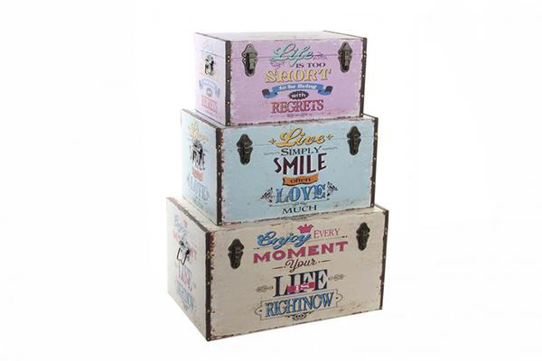Kovčezi smile set / 3 64x40x35