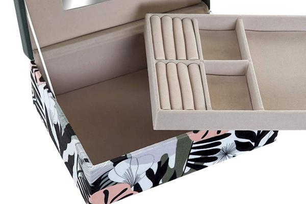 Kutija za nakit velvet grey 23x17x9