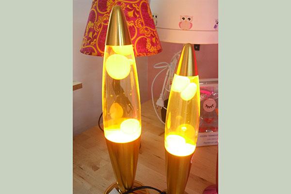 Lampa lava žuta v, dekorativne lampe