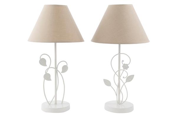 Lampa sa bež abažurom metal 25 x 45