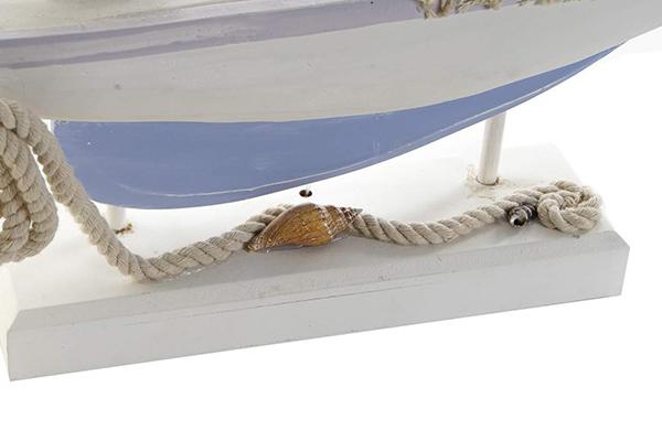 Led dekoracija plavi brod 42,5x9x72,5