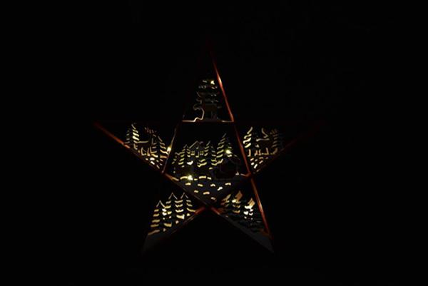 Led dekoracija red star 50x7,5x47