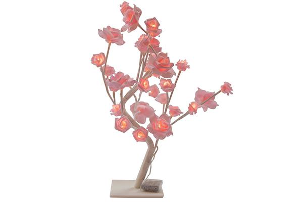 Led dekoracija roze ruže 48x22