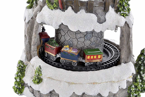 Led dekoracija train snowed 19x17x24