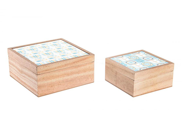 Natur tirkiz set kutija 17x17x8
