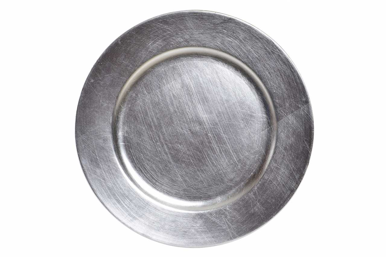 Novogodišnji tanjir silver / pp 33 cm