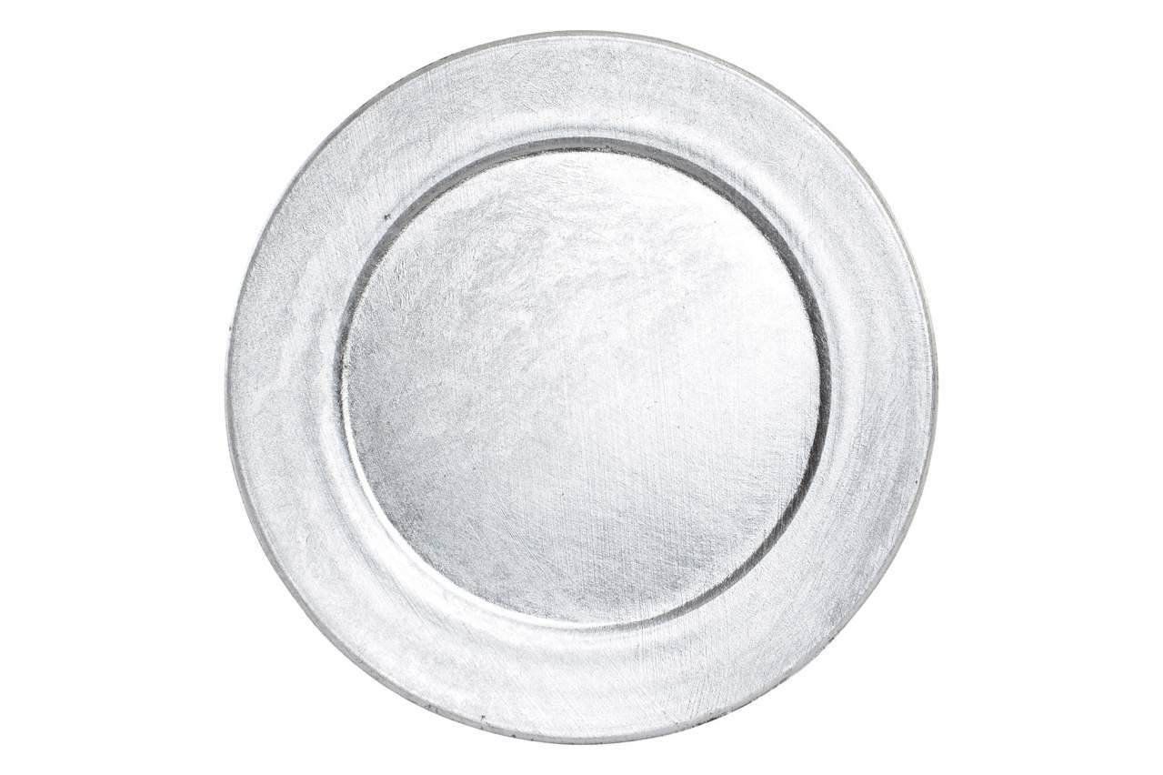 Novogodišnja tanjir silver 13 cm