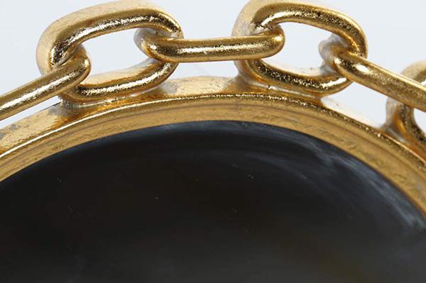 Ogledalo champagne chain golden 34x2x34