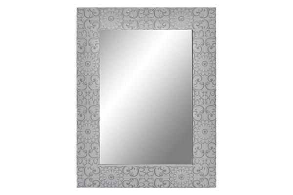 Ogledalo floral white 60x80x2.5