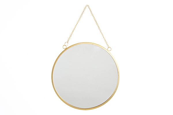 Okruglo zlatno ogledalo 25x1