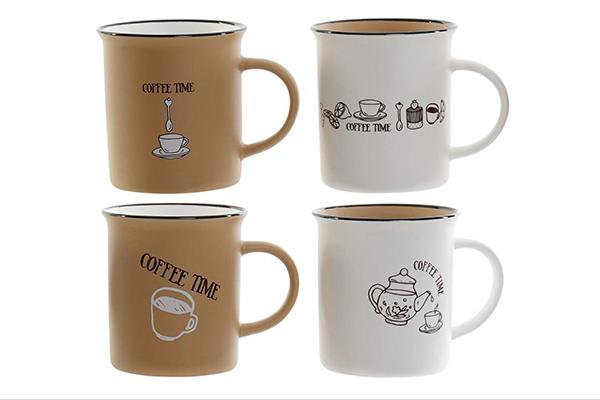 šolja coffee time 12x8,5x9 310 ml 4 modela