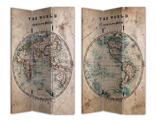Paravan world map 120x3x180