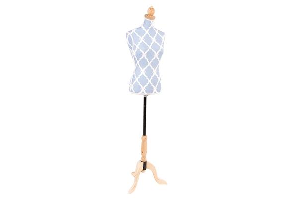 Plava krojačka lutka 30x18x130