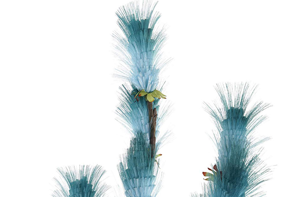 Plavi dekorativni cvet 22x22x100