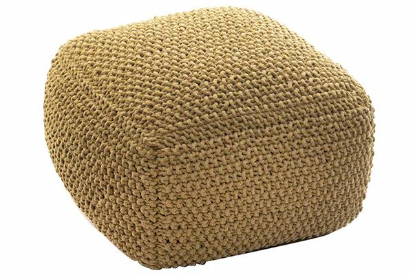 Pleteni tabure oker  60x60x40 3,6 kg