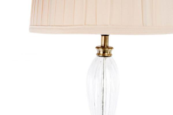 Podna lampa golden sa bež abažurom 39x165