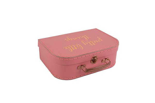 Roze koferčić sa ogledalom 17,3 x 25,6 x 8,3
