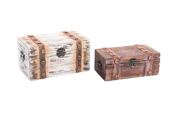Set/2 drveni kovčeg