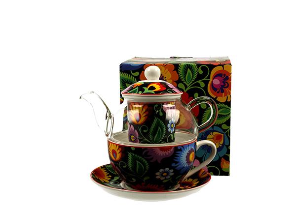 Set čajnik sa šoljom ethnic ii 255 ml/330 ml
