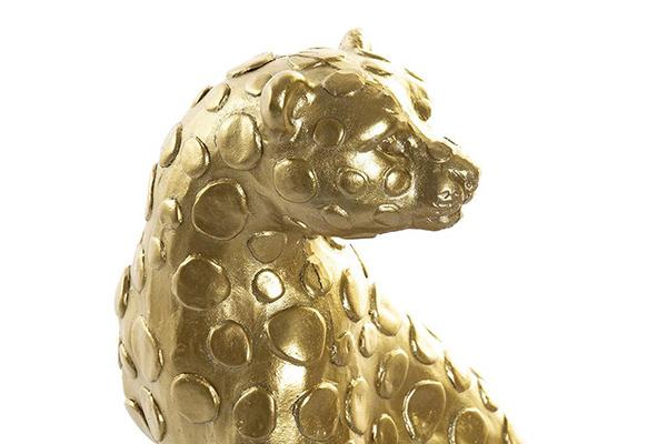 Set figura zlatni leopard / 2 20,5x12x31